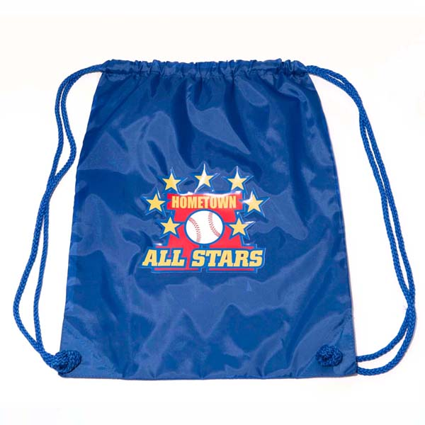 HomeTown All Stars Canvas Draw String Bag Blue
