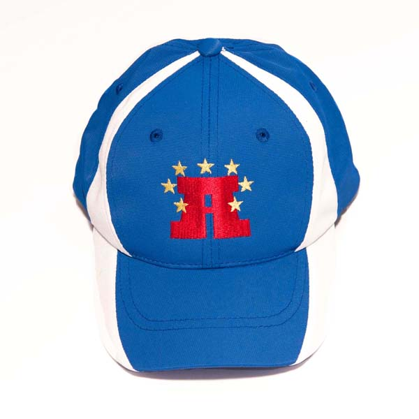 Youth/Adult Hat (blue-white)