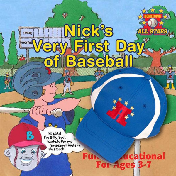 Nick's Very First Day of Baseball + Youth hat