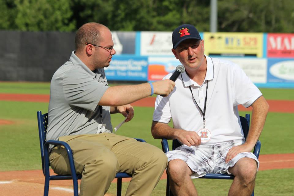 Home Plate Interview at Renegades Game